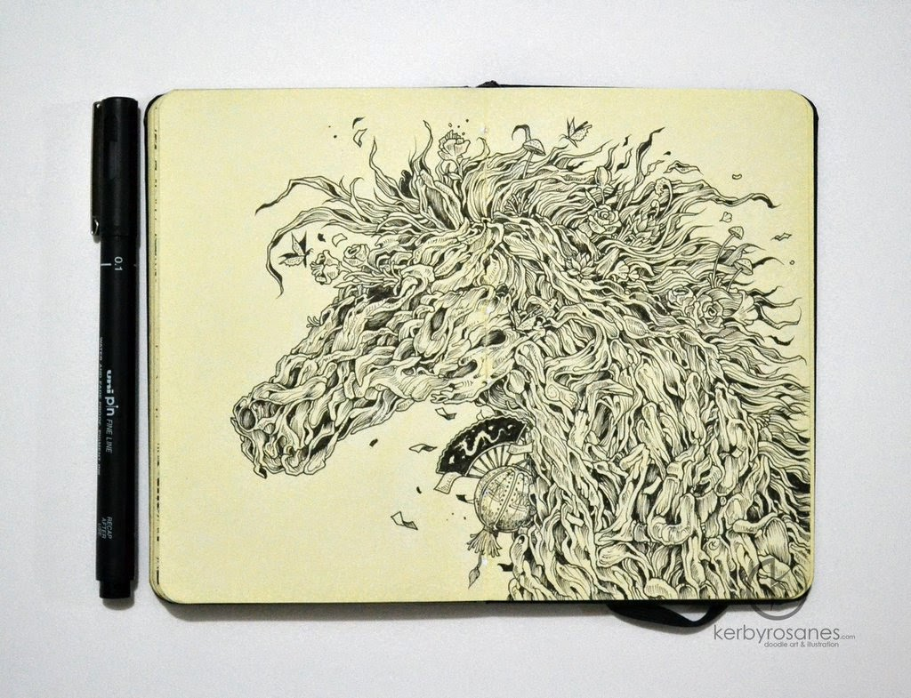 14-Wood-Horse-Sketchy-Stories- Kerby-Rosanes-www-designstack-co