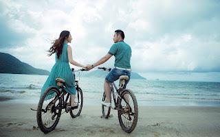 la pareja en verano
