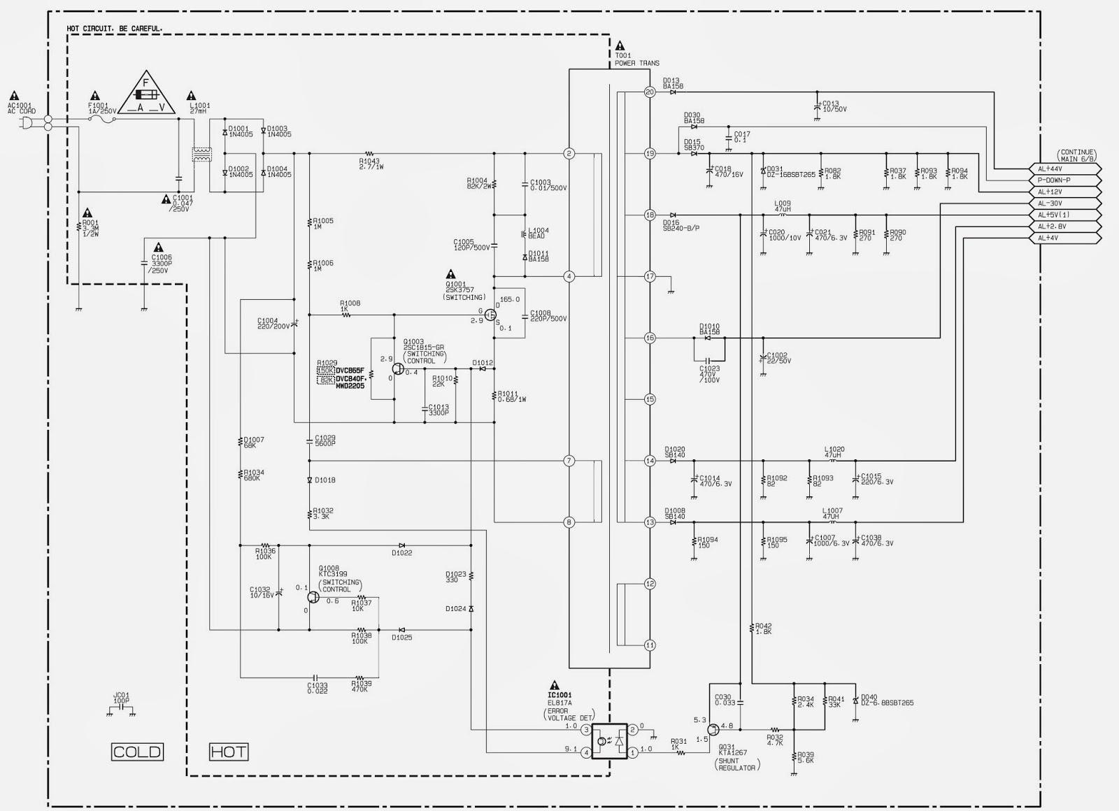 dvds2700 power supply smps schematic circuit diagram dvd data dvds2700 power supply smps schematic circuit diagram dvd [ 1600 x 1160 Pixel ]
