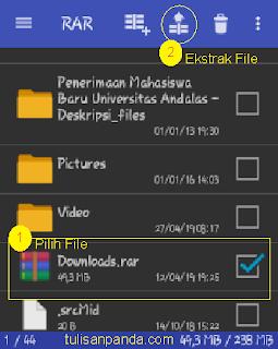 cara ektrak file zip 7z di android dengan dan tanpa aplikasi