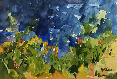 Impending Storm Watercolor - JKeese