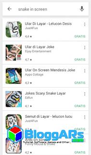 Ular Di Layar HP Android