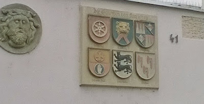 Crests of the six historic ruling families of the Hohenlohe area, photo by Carol and Andrea