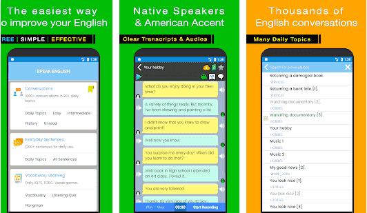 Aplikasi belajar bahasa inggris  [ Empat handal Cukup ]