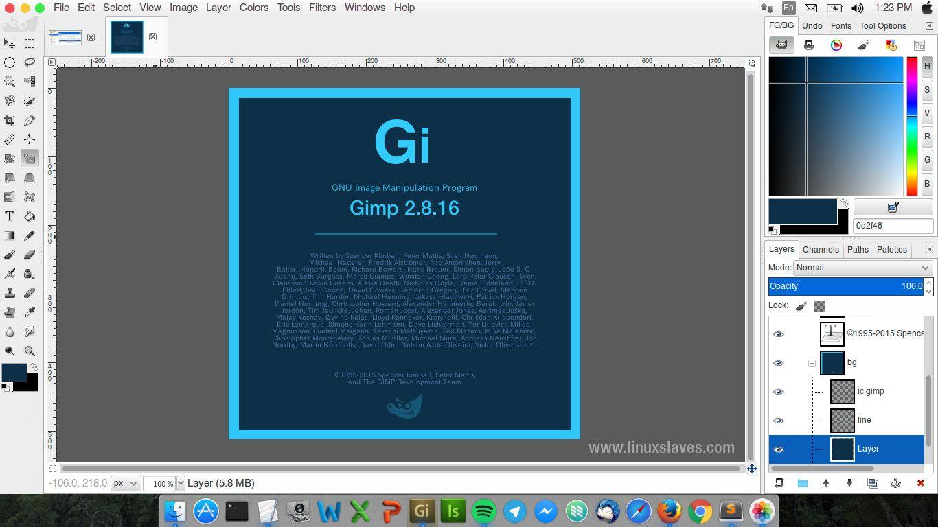 font per gimp 2.8