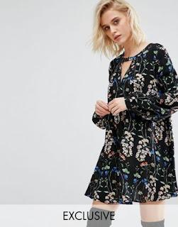 boohoo - robe florale - asos