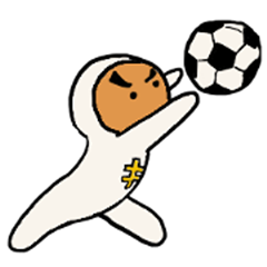 Keeper of soccer