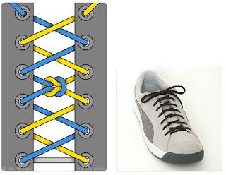 Tali Sepatu Knotted Segment Lacing