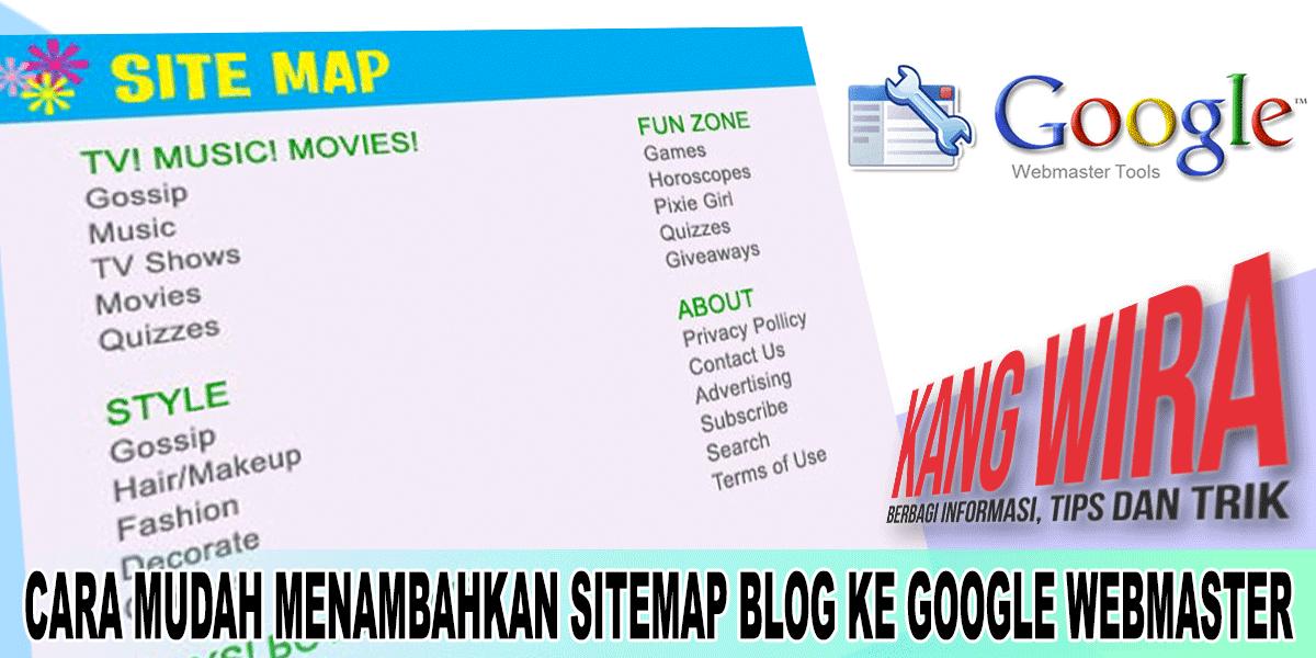 Cara Mudah Menambahkan Sitemap Blog Ke Google Webmaster