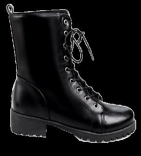 dresslily crne vojničke čizme, combat boots