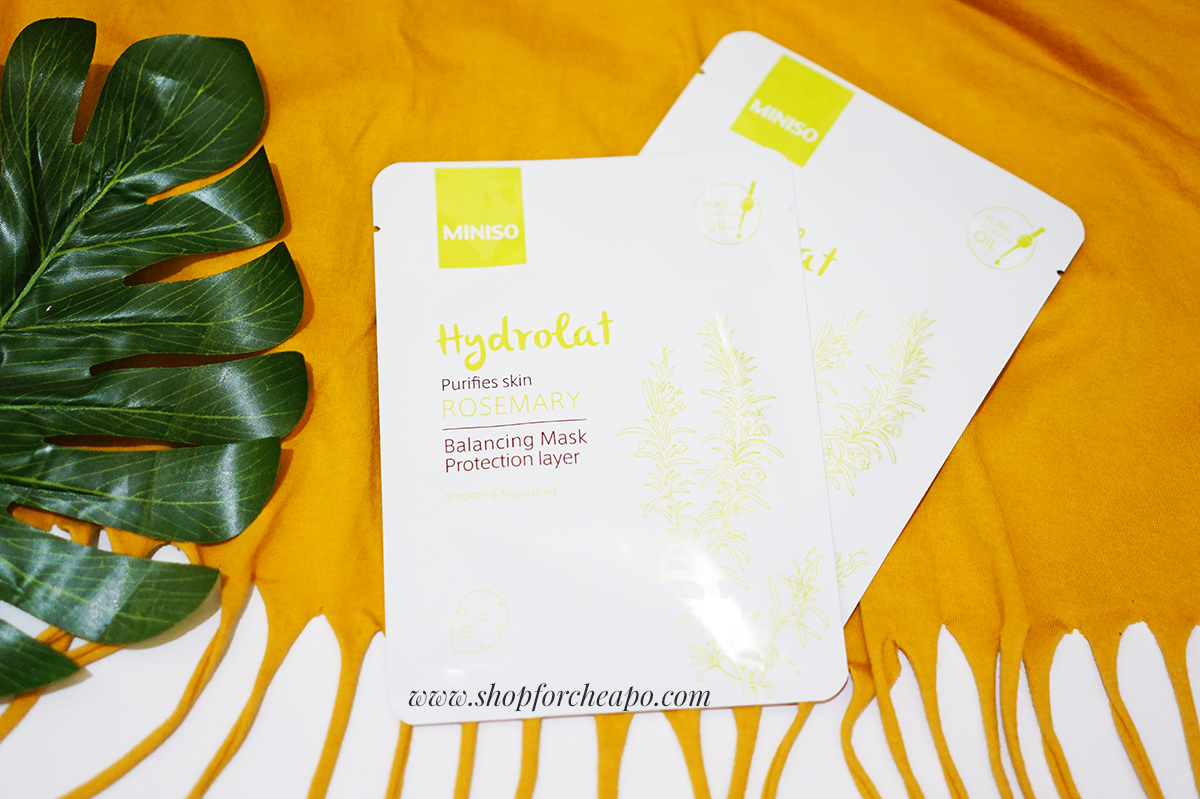 review miniso hydrolat sheet mask