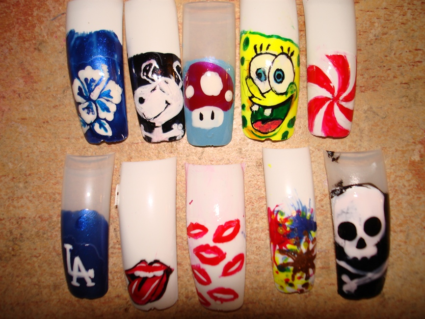 Nail Art Spongebob Nail Designs