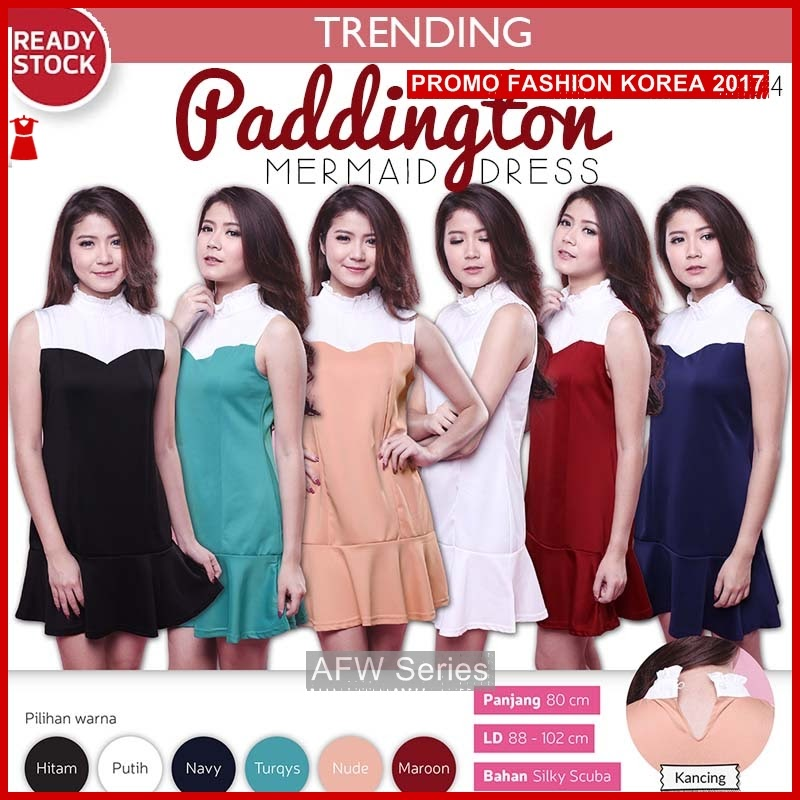 BAMFGW160 Paddington Cute Dress Wanita PROMO