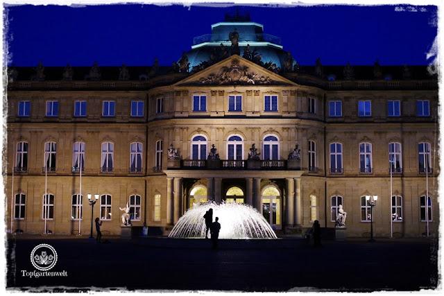 Gartenblog Topfgartenwelt Stuttgart: Stadtschloss mit Brunnen