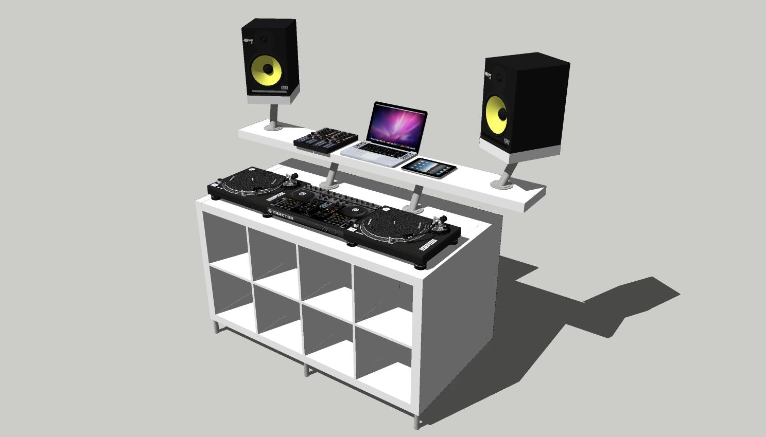 hur man bygger ett dj bord f r hemmabruk fr n ikea dj. Black Bedroom Furniture Sets. Home Design Ideas
