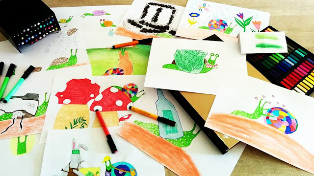 bocetos cuento infantil caracol col col