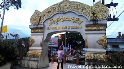 Most northern point of Thailand at Mae Sai
