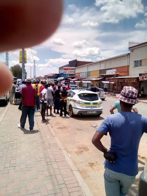 Police rescue Nigerian trader after he was attacked, doused with petrol and about to be set ablaze by mob in South Africa