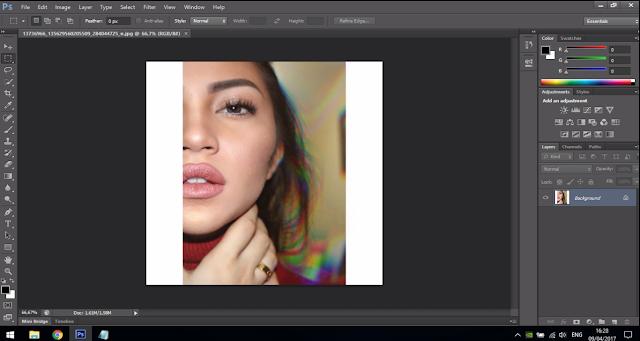 Cara Membuat Text Portrait Pada Wajah (Typography) 2