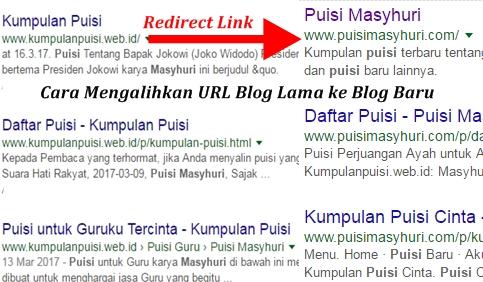 Cara Redirect/Mengalihkan Link URL Domain Blog Lama ke Domain Blog Baru di Blogger