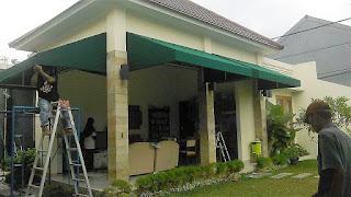 Pemasangan Kanopi Kain Permanent Jl. Baugenville Tanah Sereal Bogor Jawa Barat
