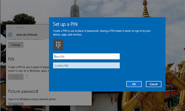 mengganti password PIN