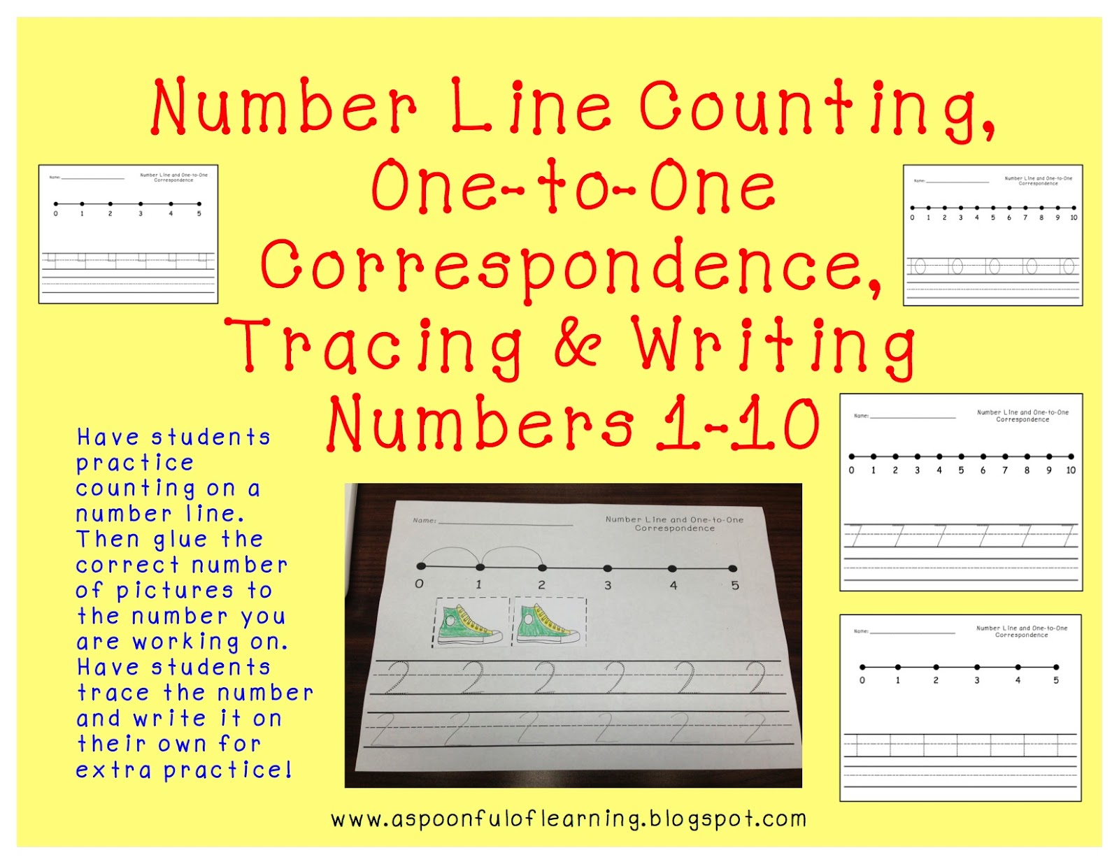 A Spoonful Of Learning Numbers Numbers Numbers Freebies