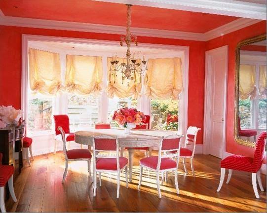 paredes de la sala de coral Comedores Color Coral Colores En Casa
