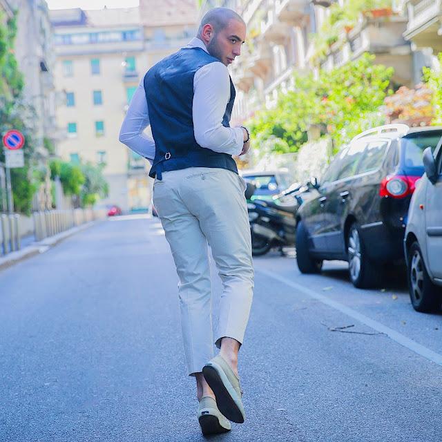 outfit maschile con panciotto uomo