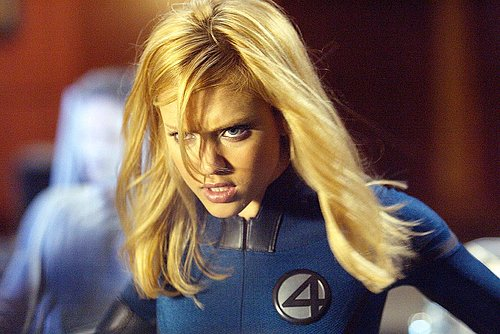 Jessica Alba as Invisible Woman with a determined look on her face in Fantastic Four movieloversreviews.filminspector.com