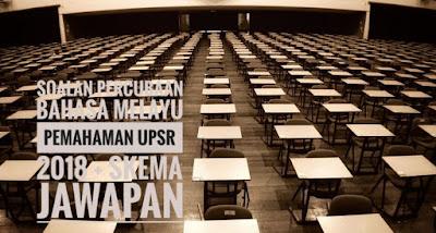 Soalan Percubaan Bahasa Melayu Pemahaman UPSR 2018 + Skema Jawapan