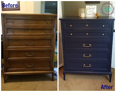 Before and After : Mid Century Modern Style Vintage Chest of Drawers