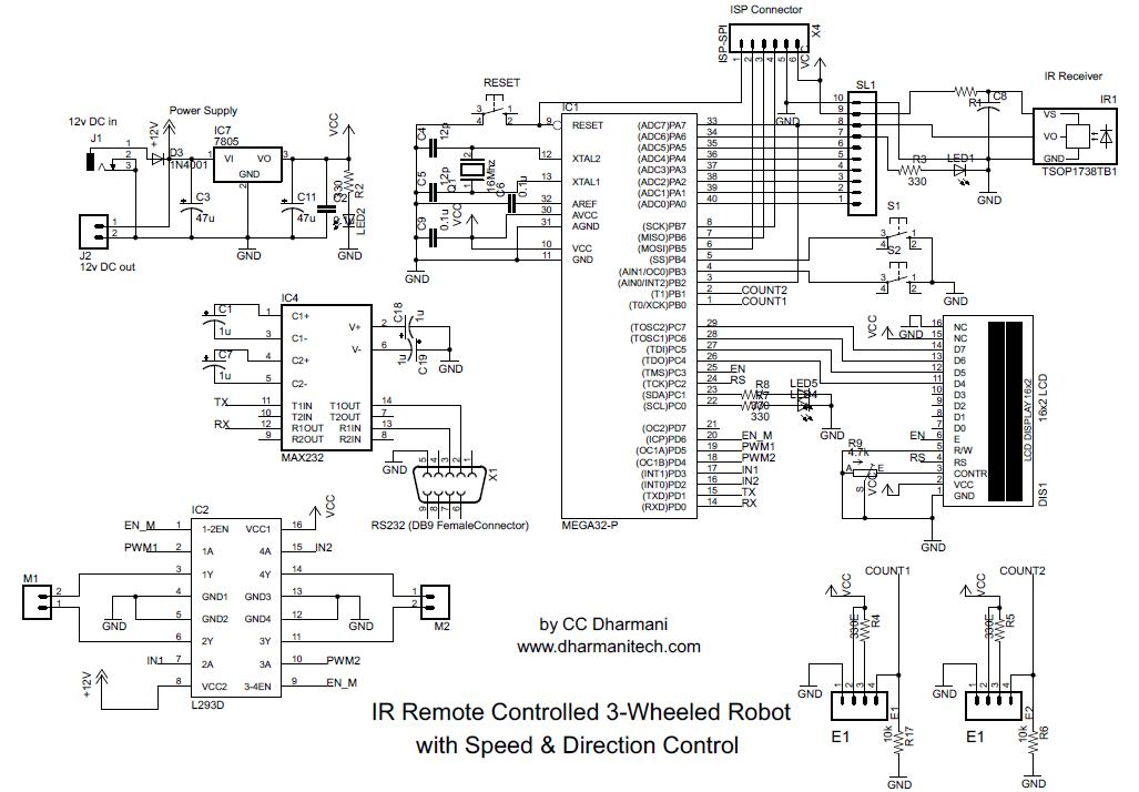 design with microcontrollers  ir remote controlled car