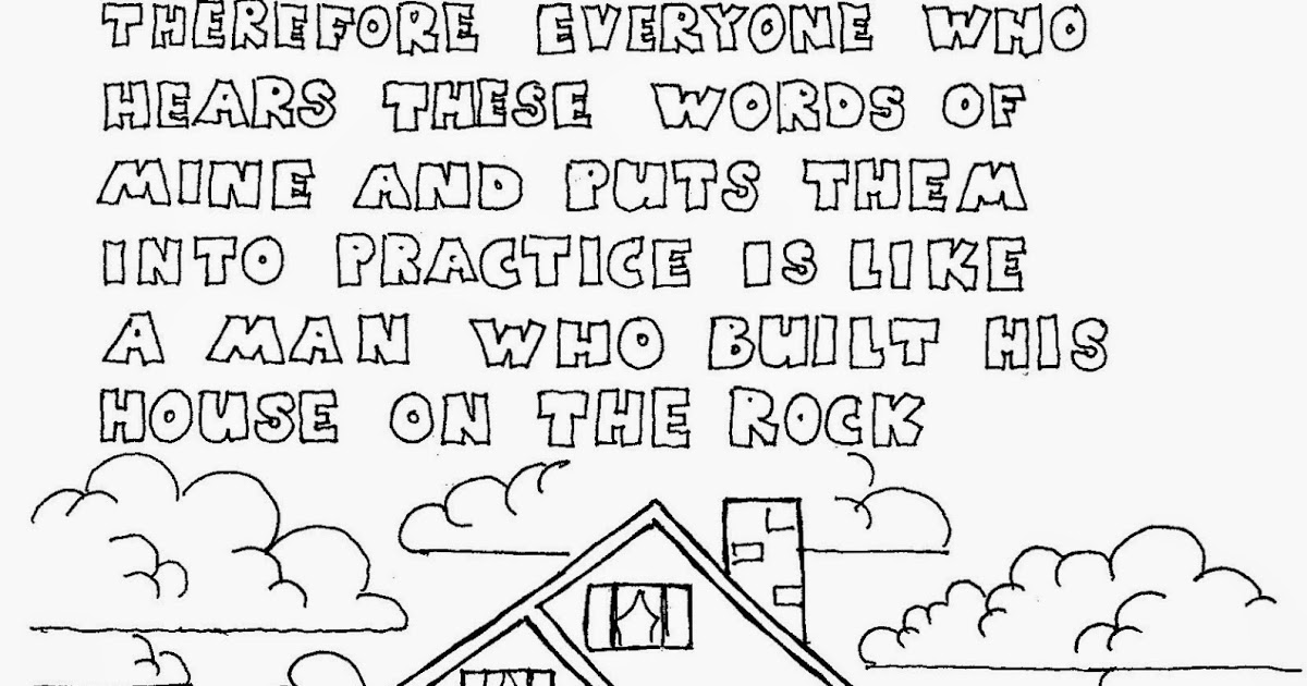 Coloring Pages For Kids By Mr Adron Matthew 7 24 The