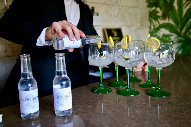 the gin bar at Eat on he green, Craig Wilson,. Aberdeenshire. pic:Kerstin Rodgers/msmarmitelover.com