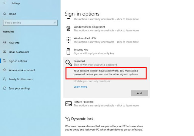 nonaktifkan lock screen windows 10