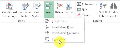 Membuat Worksheet Baru di Excel