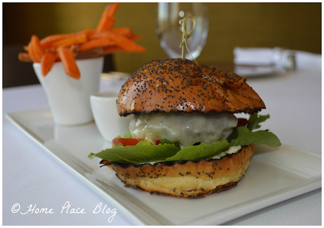Sirloin Burger, Comte, Brioche Bun, Cornichon Aioli, Sweet Potato Fries