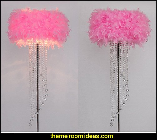 pink feather table lamps - floor lamps - ceiling lights  faux fur home decor - fuzzy furry decorations - Flokati - mink - plush - shaggy - faux flokati upholstery - super soft plush bedding - sheepskin - Mongolian lamb faux fur - Faux Fur Throw - faux fur bedding - faux fur blankets - faux fur pillows - faux fur decorating ideas - faux fur bedroom decor - fur decorations - fluffy bedding - feathery lamps
