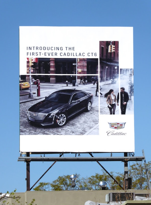 First ever Cadillac CT6 car billboard