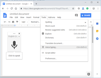 voice to text with google docs