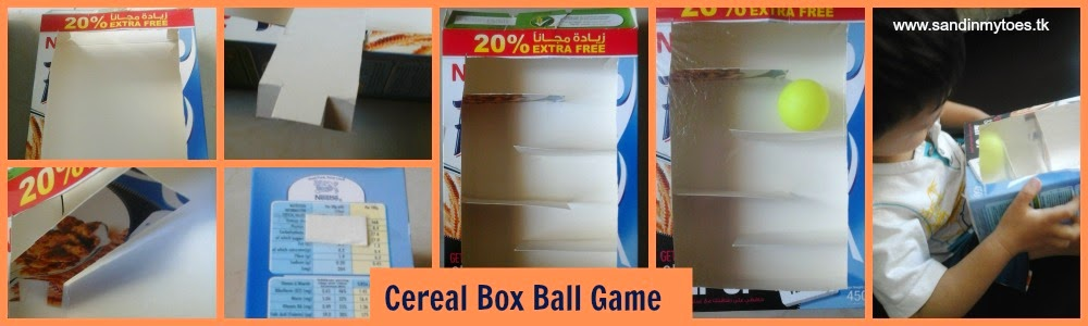 Cereal Box Ball Game for toddlers