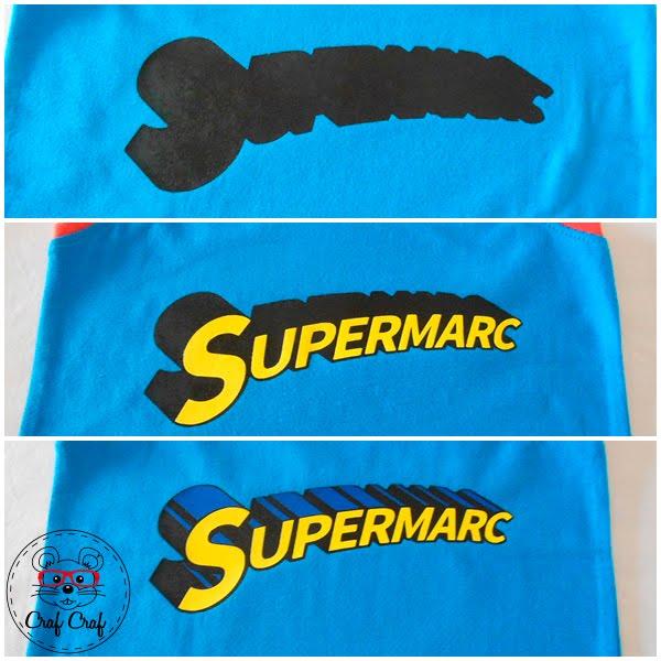 camiseta Superman vinilo textil