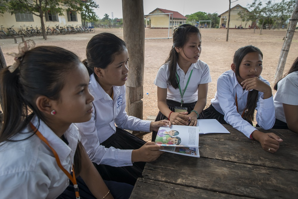 UNICEF Cambodia Teen girls in Cambodia empowered through puberty