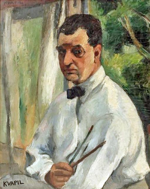 Charles Kvapil, Self Portrait, Portraits of Painters, Fine arts, Portraits of painters blog, Paintings of Charles Kvapil, Painter Charles Kvapil