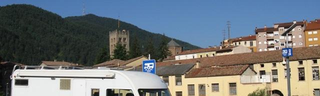 Vista de Ripoll des de l'àrea d'autocaravanes