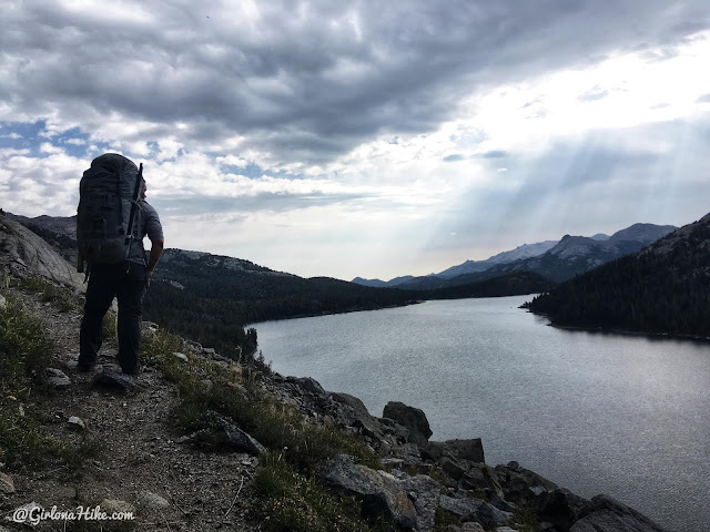 Backpacking to Mt. Hooker & Baptiste Lake, Wind River Range, Grave Lake