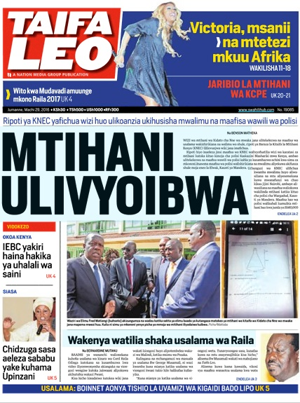 March: Headlines Across Top Kenyan Newspapers! | Trending Post | Kenya ...