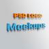 Free 3D logo mockup