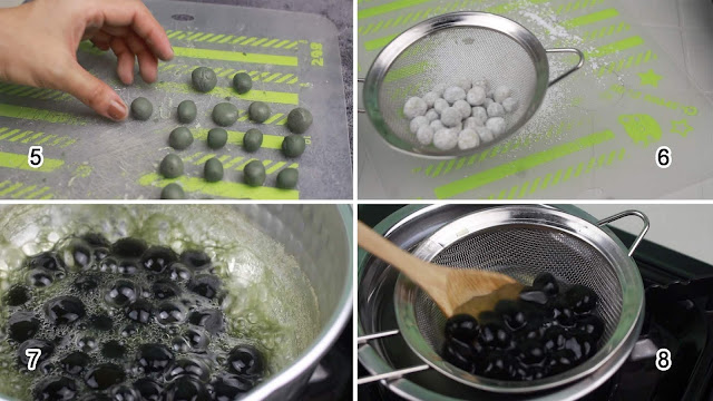 Process of making Homemade Tapioca Pearls | Sago | Boba | 타피오카펄 만들기 /  珍珠粉珍珠 from scratch